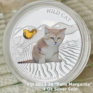 猫好き必見★2013年 フィジー銀貨 BOX&証明書付属/ネコ コイン(貨幣)
