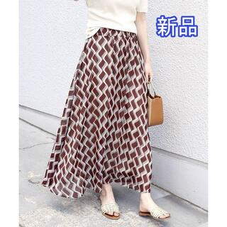 シップスフォーウィメン(SHIPS for women)の新品 SHIPS Khaju バティックプリントスカート(ロングスカート)