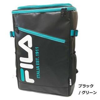 FILA - FILA ロゴリュック 黒×緑 FIMB-0531 消費税+送料無料で4900円