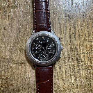 アニエスベー(agnes b.)の【新品ベルト】agnes b. chronograph 腕時計(腕時計)