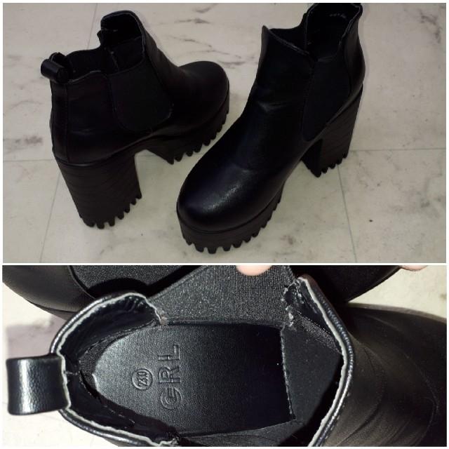 GRL(グレイル)のGRL 💗 サイドゴア꙳★*゚厚底ブーツ レディースの靴/シューズ(ブーツ)の商品写真