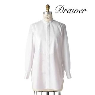 ドゥロワー(Drawer)の完売品 ドゥロワー Drawer スタンドカラーロングシャツ (シャツ/ブラウス(長袖/七分))