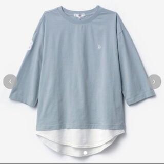 シマムラ(しまむら)の成瀬愛里さんコラボ 七分袖 グリーン(Tシャツ(長袖/七分))