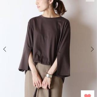 フレームワーク(FRAMeWORK)のペルビアン天竺スリットスリーブTシャツ(Tシャツ/カットソー(七分/長袖))