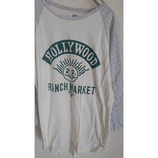 ハリウッドランチマーケット(HOLLYWOOD RANCH MARKET)のHRM ハリラン ラグランスリーブ プリントT ロンT 七分袖 サイズ1(Tシャツ/カットソー(七分/長袖))