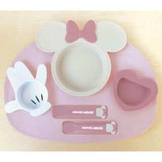 ディズニー(Disney)のミニーのランチプレート 離乳食(離乳食器セット)