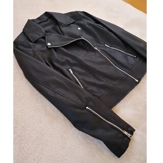 ユニクロ(UNIQLO)の新品タグなし ユニクロ ライダースジャケット 黒 S(ライダースジャケット)