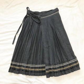 ケイタマルヤマ(KEITA MARUYAMA TOKYO PARIS)のケイタマルヤマKEITA MARUYAMA プリーツ巻きスカート(ひざ丈スカート)