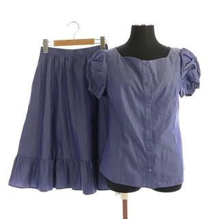 トッカ(TOCCA)のトッカ 19SS SUGAR ブラウス スカート セットアップ 上下 ひざ丈(シャツ/ブラウス(半袖/袖なし))