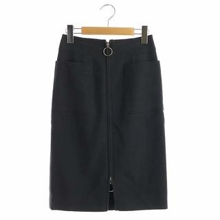 ノーブル(Noble)のノーブル フープジップタイトスカート 膝丈 34 紺 ネイビー(ひざ丈スカート)