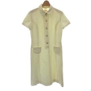 ハロッズ(Harrods)のハロッズ Harrods ワンピース 半袖 ひざ丈  シャツ 3 オフホワイト(ひざ丈ワンピース)
