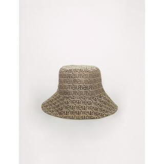 アメリヴィンテージ(Ameri VINTAGE)のRANDEBOO RB monogram hat (beige)(ハット)