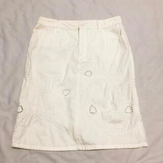 シーバイクロエ(SEE BY CHLOE)のシーバイクロエSEE BY CHLOE白いタイトスカート42(ひざ丈スカート)