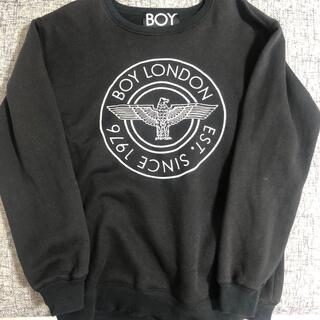 ボーイロンドン(Boy London)のBOY LONDON トレーナー(黒)韓国ブランド(スウェット)