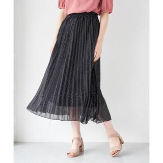 フーズフーチコ(who's who Chico)の新品タグ付き シフォンプリーツスカート スカート(ひざ丈スカート)