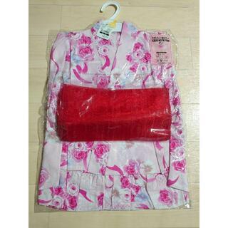 ニシマツヤ(西松屋)の123.新品 ゆかたドレス・帯3点セット 100cm(甚平/浴衣)