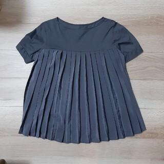 プラステ(PLST)のPLST プリーツ切り替えTシャツ(Tシャツ(半袖/袖なし))