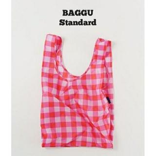 エディットフォールル(EDIT.FOR LULU)のビッグ チェック ピンク BAGGU  baguu エコバッグ スタンダード(エコバッグ)
