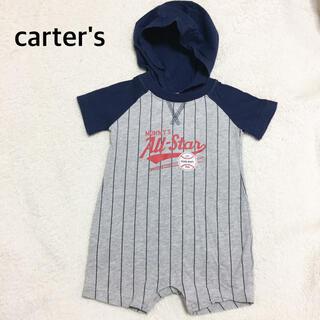 カーターズ(carter's)のcarter'sベースボールロンパース70㎝美品(ロンパース)