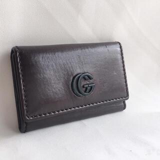 グッチ(Gucci)のGUCCI レザーキーケース ブラウン マーモント 6連(キーケース)