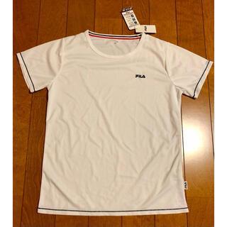 アイオペ(IOPE)の新品未使用 レディース Tシャツ FILA 白 ドライフィット ポリエステル(Tシャツ(半袖/袖なし))