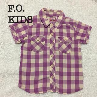 エフオーキッズ(F.O.KIDS)のF.O.KIDSチェックシャツ110(ブラウス)