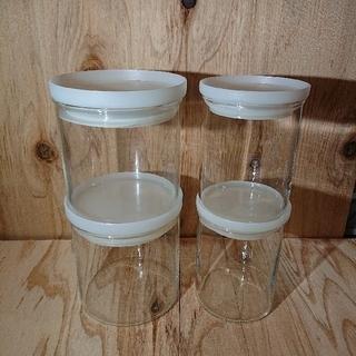 ムジルシリョウヒン(MUJI (無印良品))の無印良品 耐熱ガラス保存容器(丸型)4個セット(容器)
