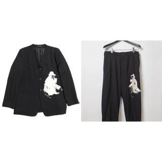 Yohji Yamamoto - yohji yamamoto 刺繍ギャバ 20ss セットアップ