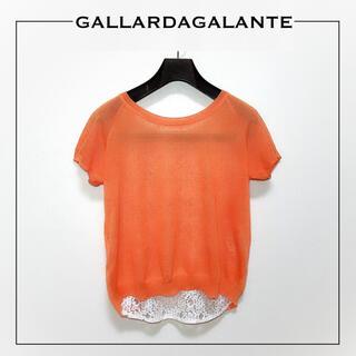 ガリャルダガランテ(GALLARDA GALANTE)のGALLARDA GALANTE レースレイヤード プルオーバー*マカフィー(カットソー(半袖/袖なし))