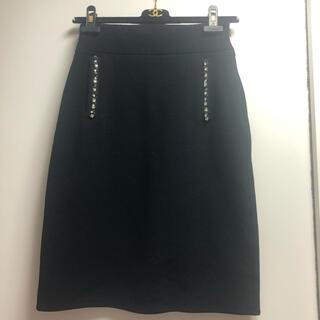 クイーンズコート(QUEENS COURT)の新品 未使用品☆QUEENS COURT☆シンプルタイトスカート/ブラック(ひざ丈スカート)