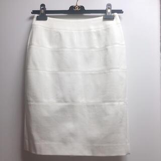 クードシャンス(COUP DE CHANCE)の新品 未使用品☆COUP DE CHANCE☆タイトスカート/オフホワイト(ひざ丈スカート)