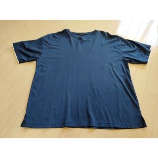 ニコアンド(niko and...)のシルケットスムースTシャツ(ネイビー、Lサイズ)(シャツ)