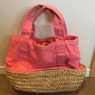 スタディオクリップ(STUDIO CLIP)のスタディオクリップ バンドバッグ 籠バッグ ピンク(かごバッグ/ストローバッグ)