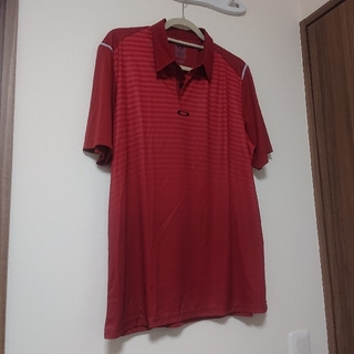 オークリー(Oakley)の値下げ⤵️中古 オークリー Oakley ウェア ゴルフ テニス L 赤 レッド(ポロシャツ)