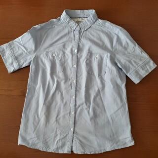 マンゴ(MANGO)のMANGO 半袖タンガリーシャツ ブラウス リメイク 大きいサイズ チュニック(シャツ/ブラウス(半袖/袖なし))