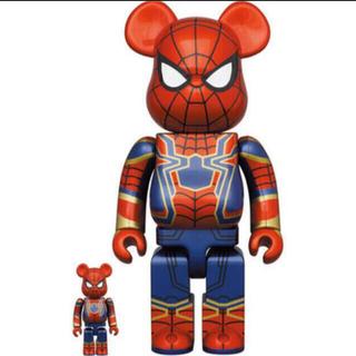 メディコムトイ(MEDICOM TOY)のBE@RBRICK IRON SPIDER 100% 400% スパイダーマン(その他)