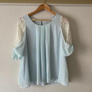 イング(INGNI)のINGNI トップス レース ブルー(Tシャツ(長袖/七分))