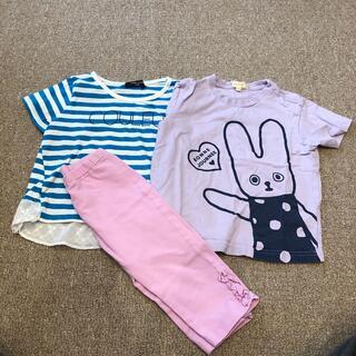 ユニクロ(UNIQLO)の100センチ Tシャツ パンツ セット(その他)