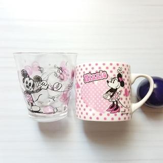 ディズニー(Disney)の本日限定【Disney】ミニー マグカップ&ミッキー グラス 2個セット(グラス/カップ)