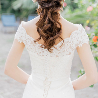 WITH A WHITE ミカドオフショルダー ボレロ(ウェディングドレス)