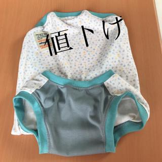 中型犬服(4Lサイズ)小花(青)(犬)