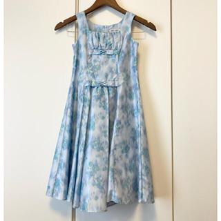 ベベ(BeBe)のドレス 130㎝ ワンピース 発表会 結婚式 水色(ドレス/フォーマル)