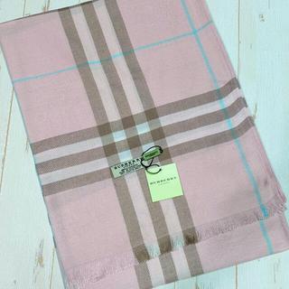 BURBERRY - バーバリー ストール 大判 70×180  ピンク ベビーピンク チェック 水色