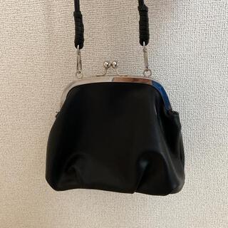 カシータ(casiTA)のカシータ casita ショルダー 手持ち バッグ 肩掛け 黒 車掌 がま口(ショルダーバッグ)