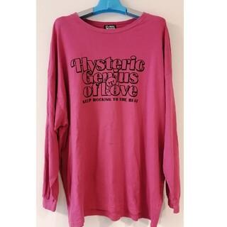 ヒステリックグラマー(HYSTERIC GLAMOUR)のヒス ロンT ワンピース オーバーサイズ ピンク系(Tシャツ(長袖/七分))