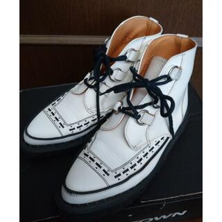 ジョージコックス(GEORGE COX)のジョージコックス13394ホワイトレザーブラックインターレース(ブーツ)