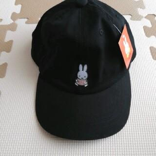 シマムラ(しまむら)のミッフィー 帽子 キャップ 55cm キッズサイズ ブラック ピンク(帽子)