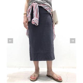 アパルトモンドゥーズィエムクラス(L'Appartement DEUXIEME CLASSE)のL'Appartement AMERICANA Sweat スカート 36 新品(ひざ丈スカート)