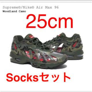 シュプリーム(Supreme)のSupreme Nike Air Max 96 25cm Socksセット(スニーカー)