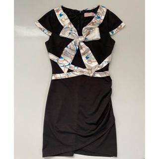 dazzy store - sobre スカーフ配色 ワンピース キャバドレス